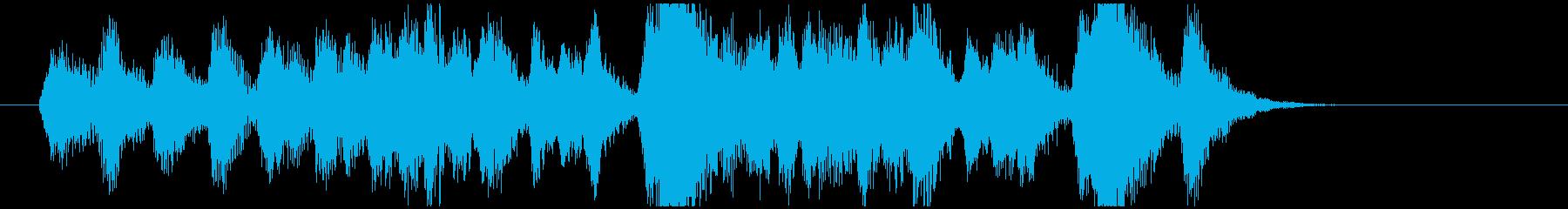 早口のコーラス入りオケの再生済みの波形