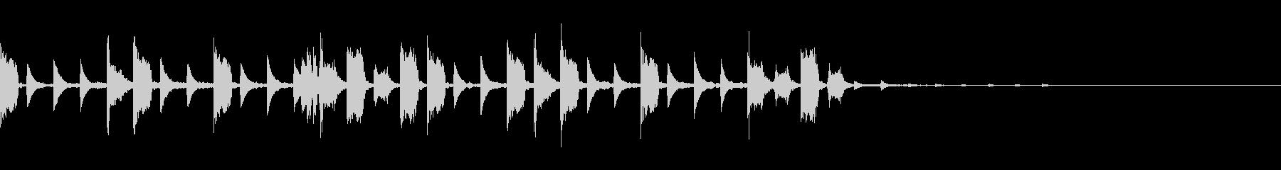 キャッチーダブステップジングルの未再生の波形