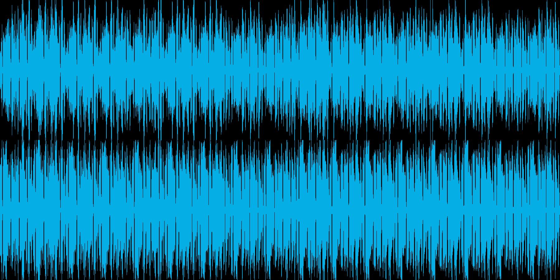 ボサノバ調・癒しギターバックグラウンドにの再生済みの波形