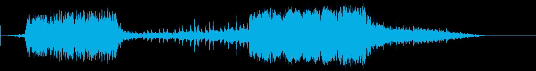 遠方蒸気機関車の再生済みの波形