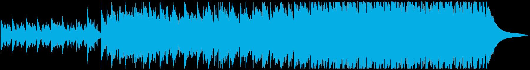 切ない、夜、ピアノの再生済みの波形