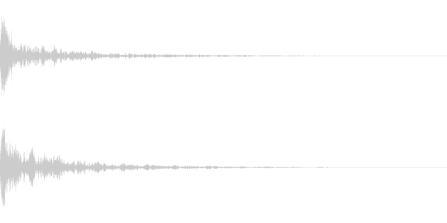 ドーン-19-1(インパクト音)の未再生の波形