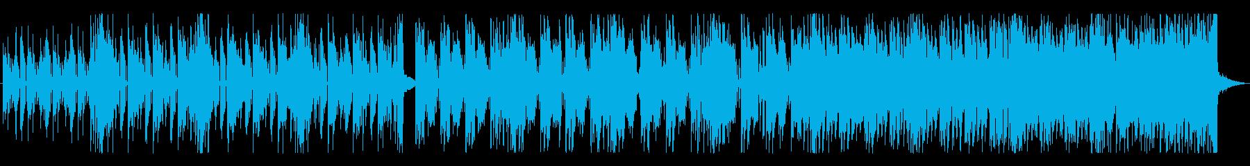 ハードボイルドでソリッドなテクノの再生済みの波形