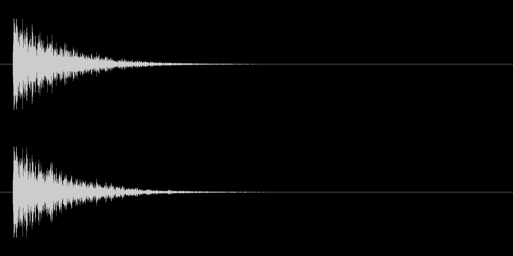 【アクセント10-1】の未再生の波形