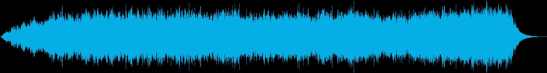 フルートのパッドにキラキラシンセのコラボの再生済みの波形