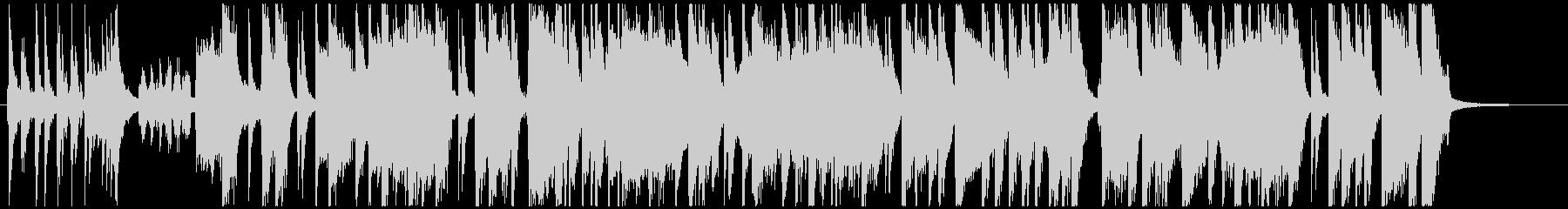オシャレ、可愛い、ショートBGMの未再生の波形