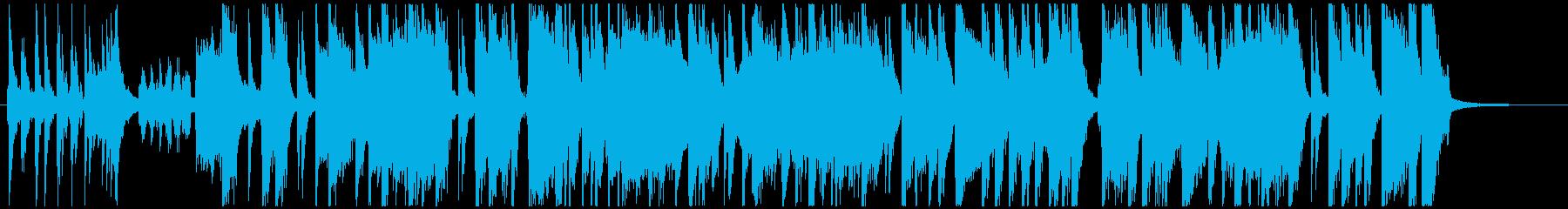 オシャレ、可愛い、ショートBGMの再生済みの波形