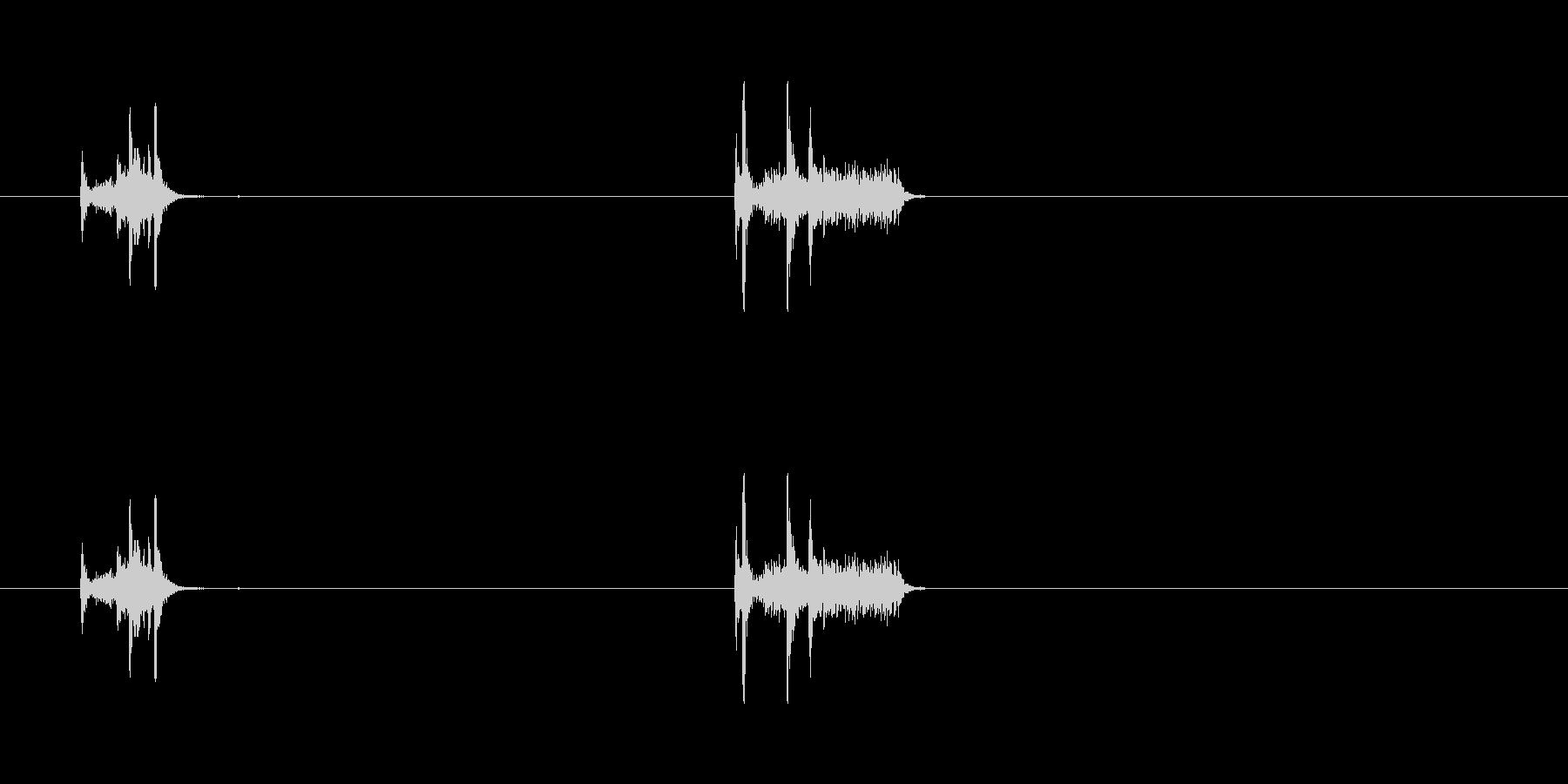 【カメラ シャッター01-3】の未再生の波形