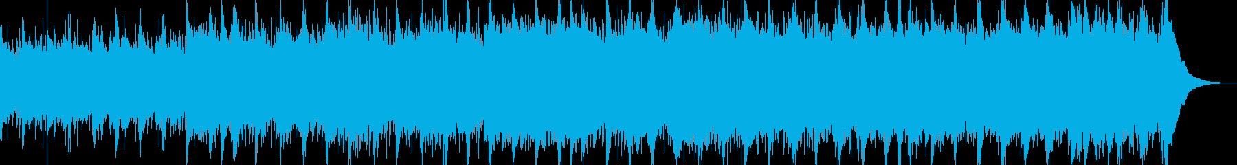 キラキラと静かで落ち着く癒しの楽曲の再生済みの波形