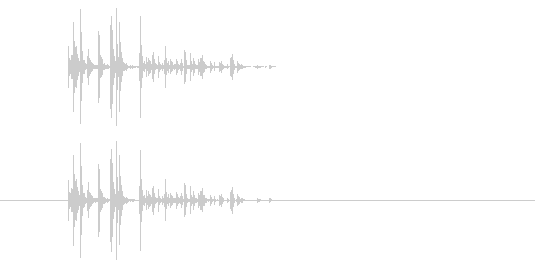 サイコロを振る/すごろく/ダイス_3個の未再生の波形