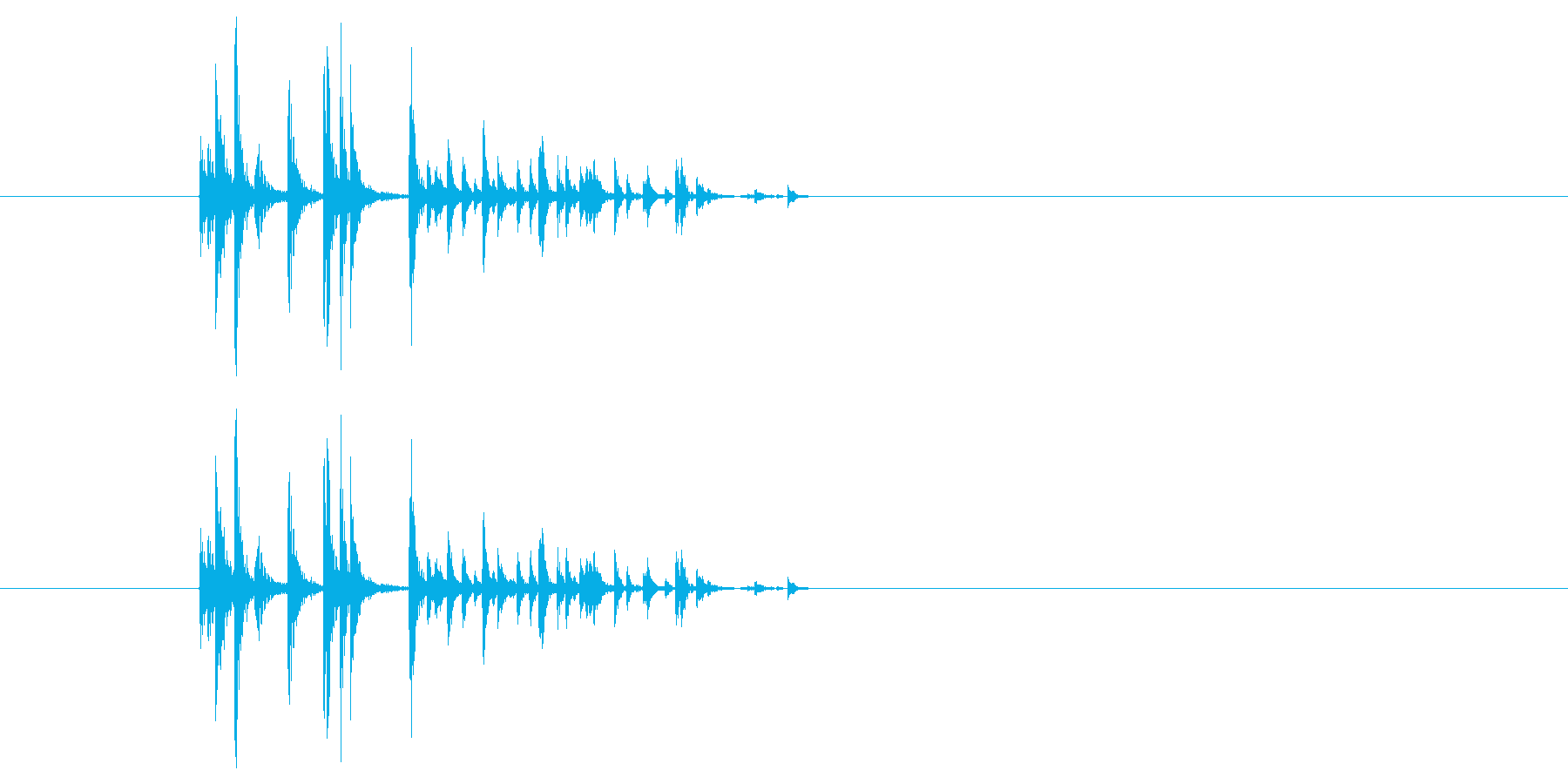 サイコロを振る/すごろく/ダイス_3個の再生済みの波形
