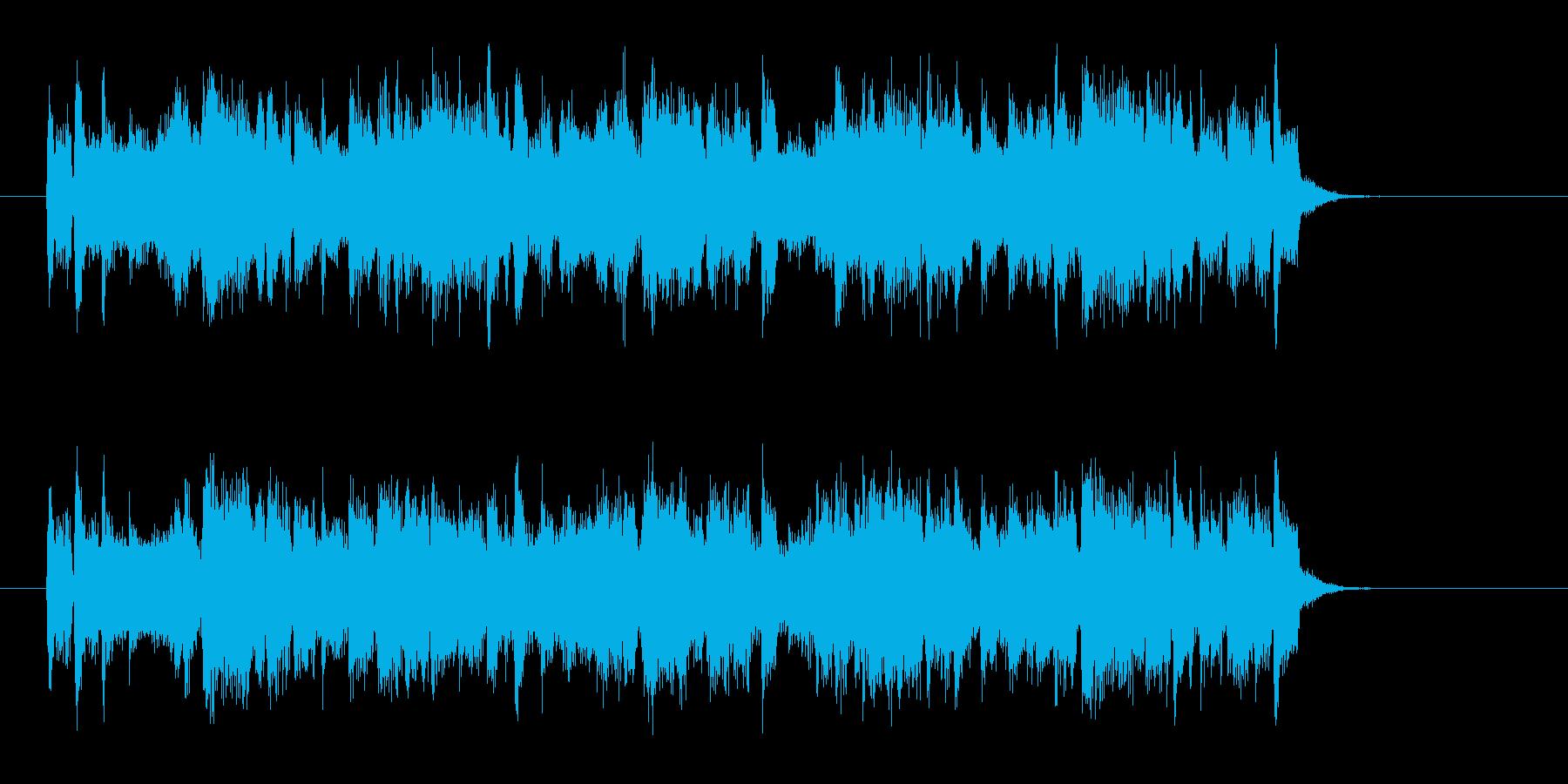 軽快でジングルにぴったりの短い楽曲の再生済みの波形