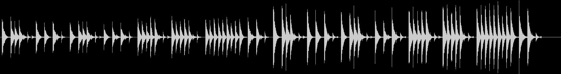木琴で作ったとぼけた雰囲気の短い曲の未再生の波形