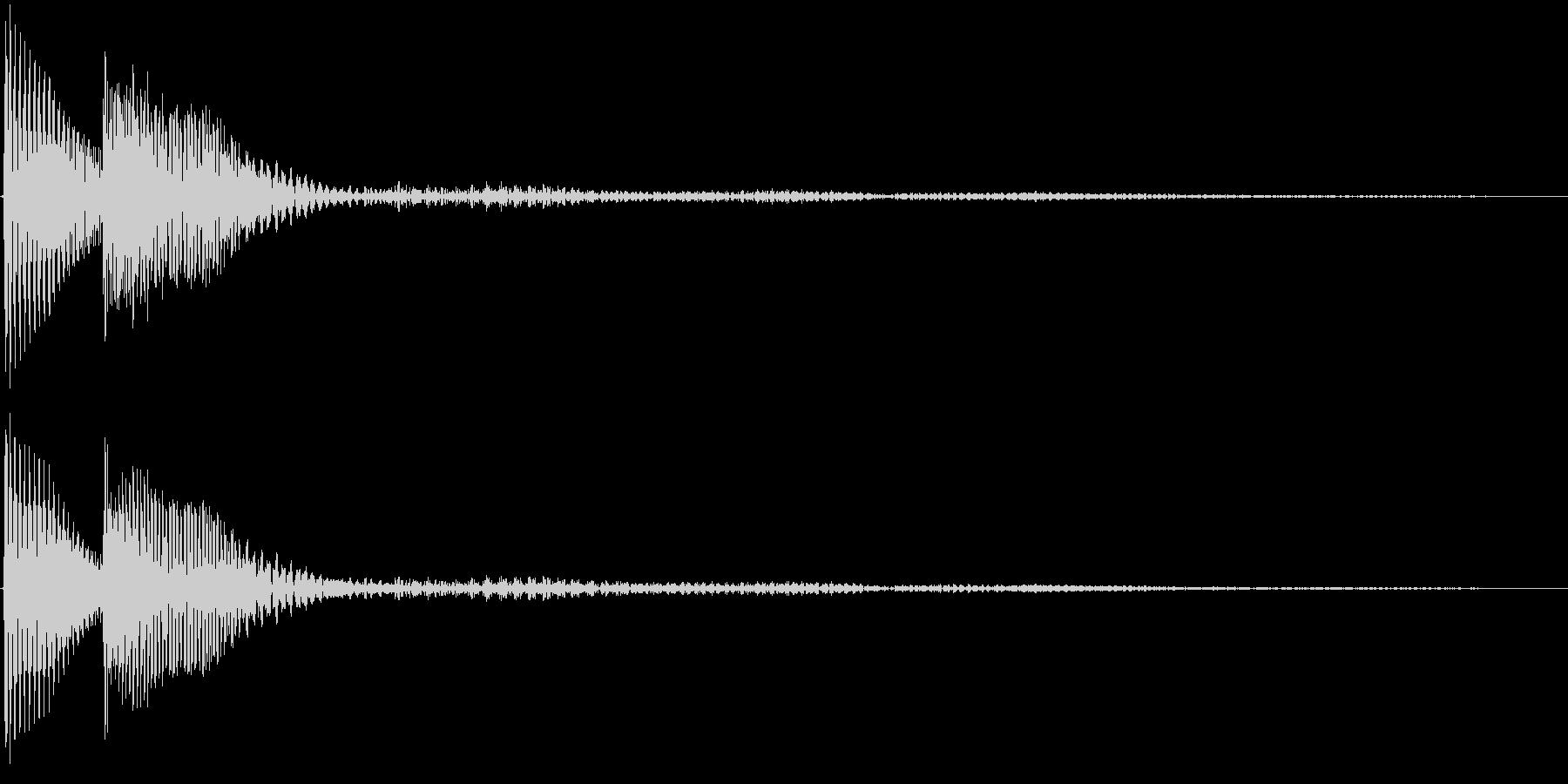 決定音・選択・取得・ピロンの未再生の波形