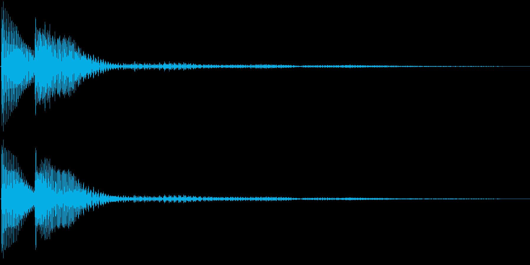 決定音・選択・取得・ピロンの再生済みの波形