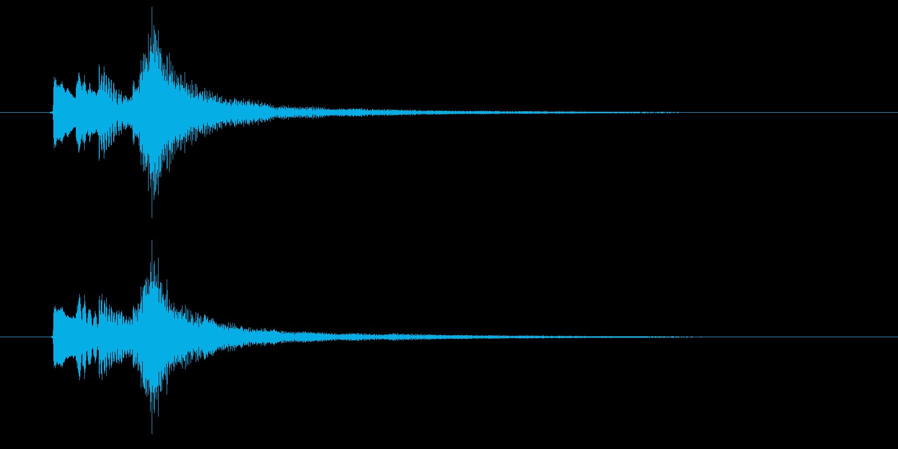 8秒のピアノの寂しげなサウンドロゴの再生済みの波形