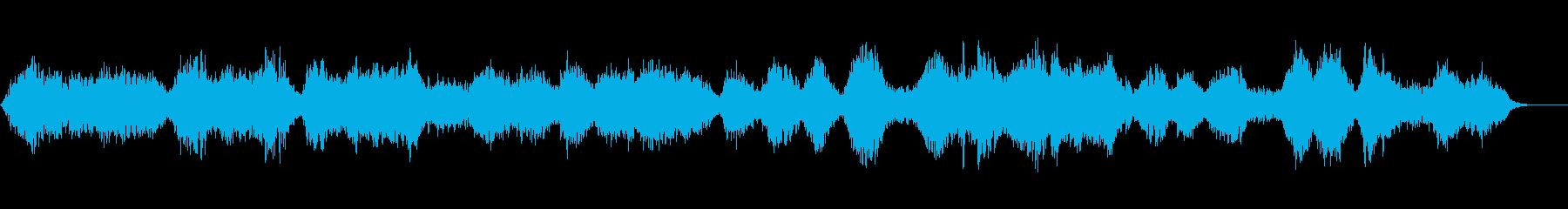 幻想的な世界に包まれるヒーリングBGMの再生済みの波形