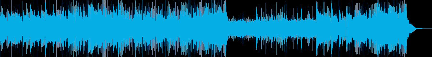 癒・ふわっとしたパステル調のBGMの再生済みの波形