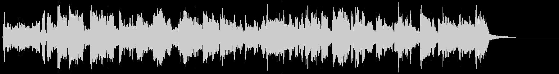 フュージョン系ファンクの15秒ジングルの未再生の波形