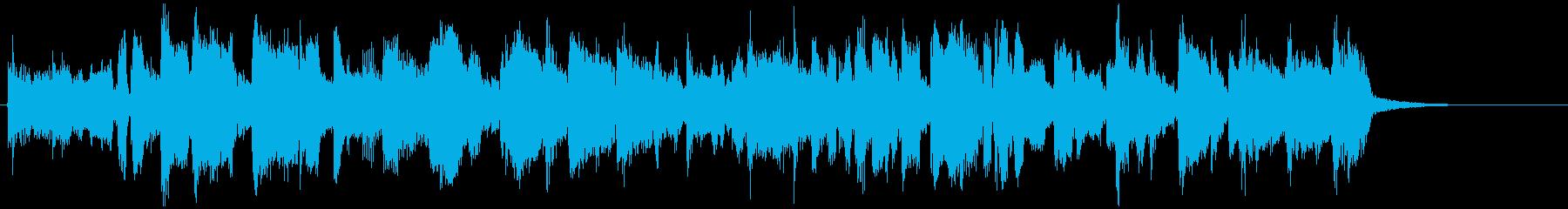 フュージョン系ファンクの15秒ジングルの再生済みの波形