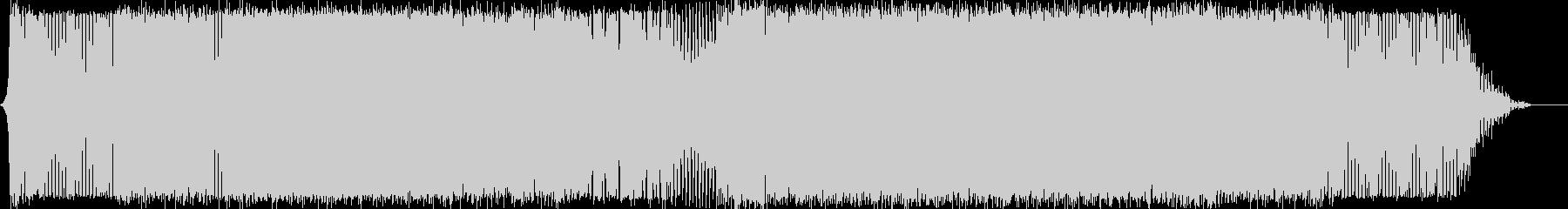 明るく次第に盛り上がってくるピアノBGMの未再生の波形