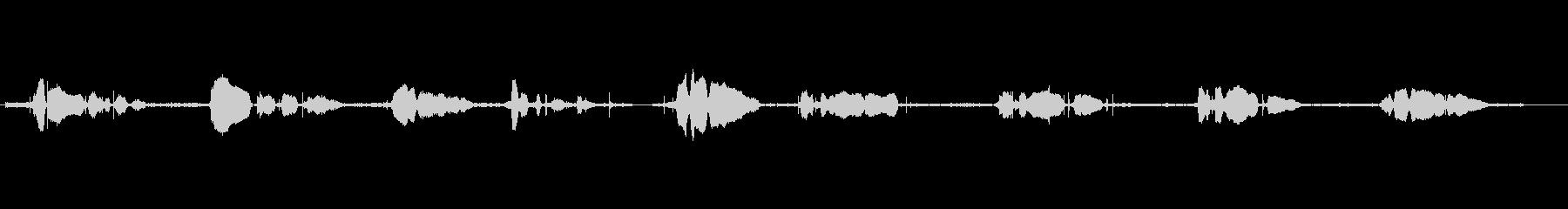 鳴き声 男性の祈り02の未再生の波形