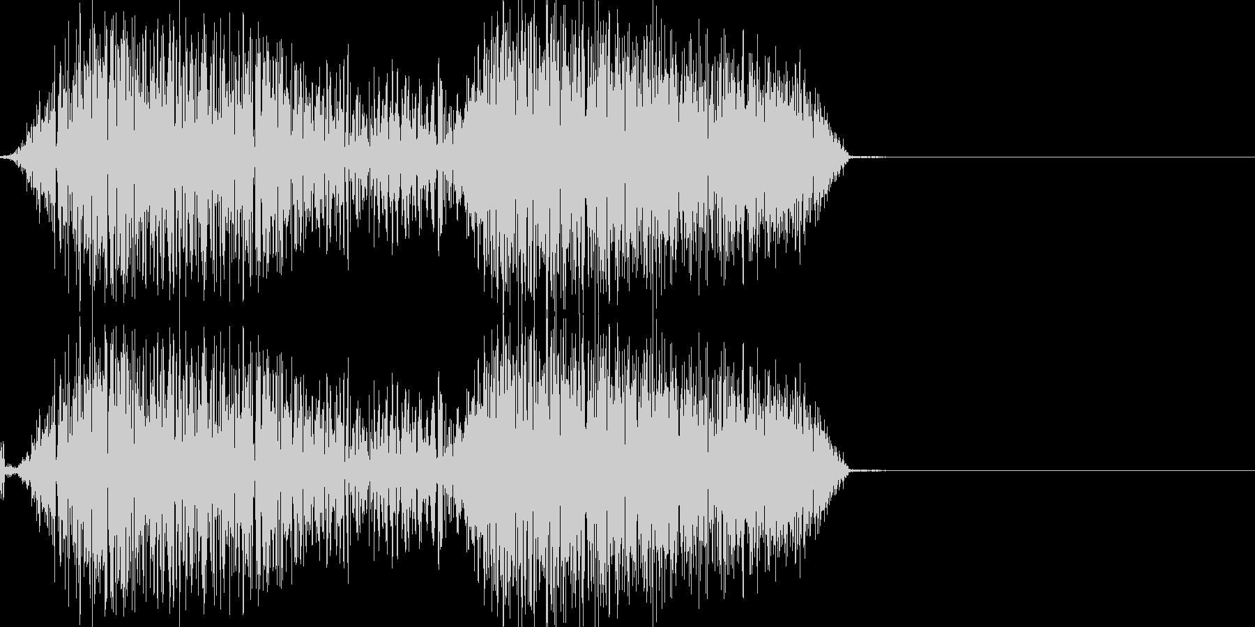 バシュッ(少し軽めの斬撃音)の未再生の波形