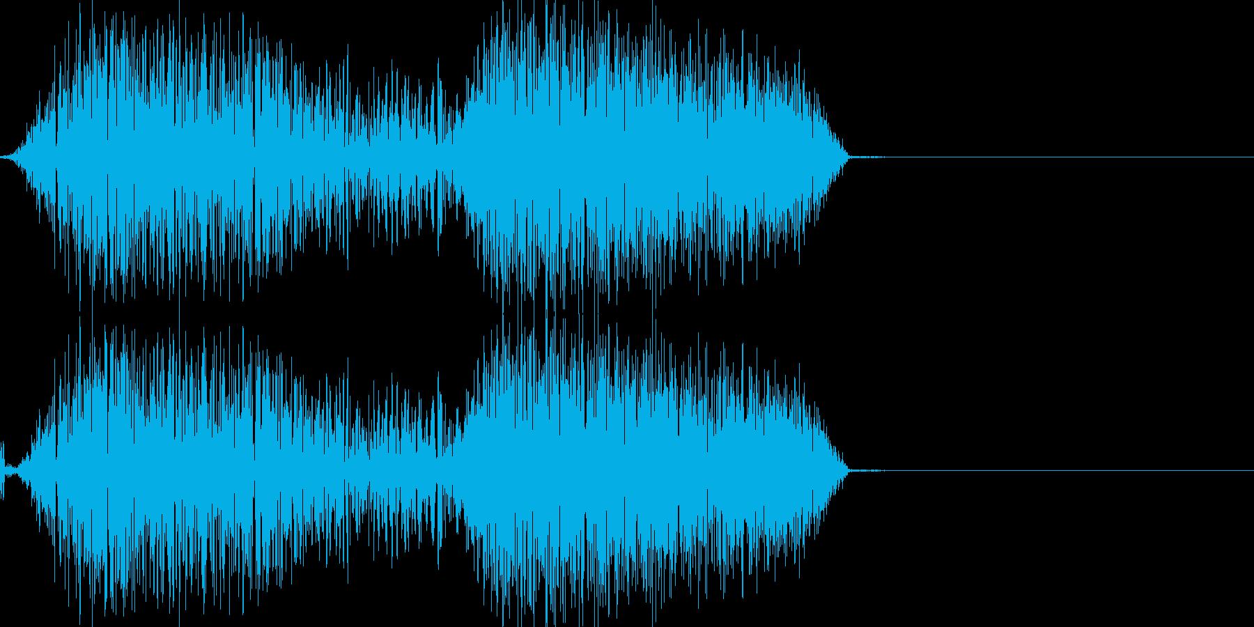 バシュッ(少し軽めの斬撃音)の再生済みの波形