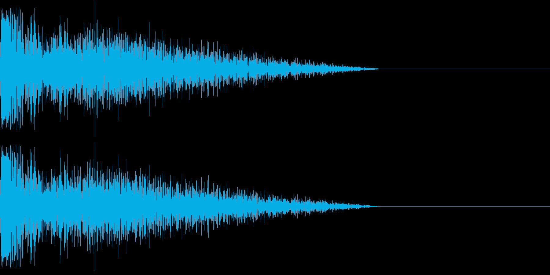 DTM Snare 5 オリジナル音源の再生済みの波形
