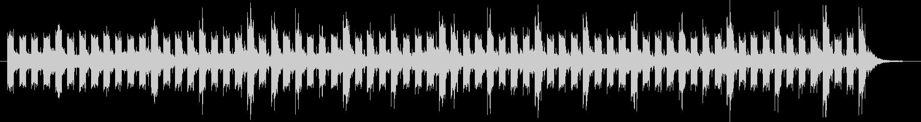 ベースの低音が基調のスローテンポな曲の未再生の波形