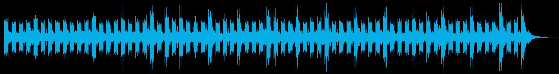 ベースの低音が基調のスローテンポな曲の再生済みの波形