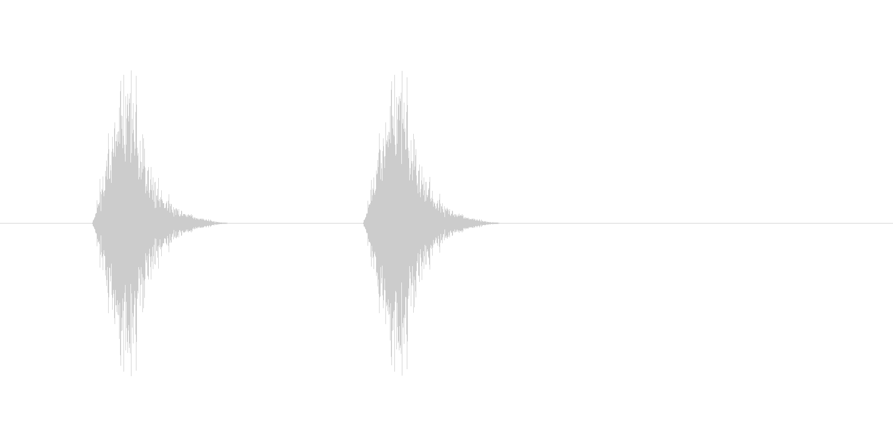 サッサッ(ほうき、掃く、掃除)の未再生の波形