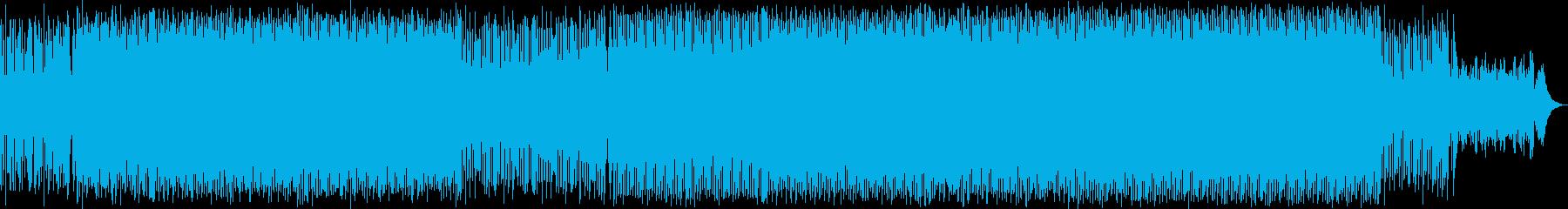 ハッピーなシンセポップハウス系サウンドの再生済みの波形