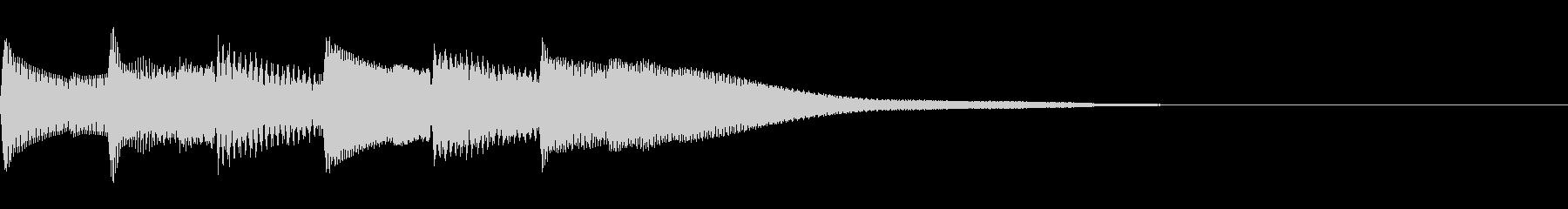 正解 1A 控え目な音 ピポピポピポーンの未再生の波形