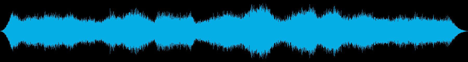 オーシャン:波が中程度の激しい波の再生済みの波形