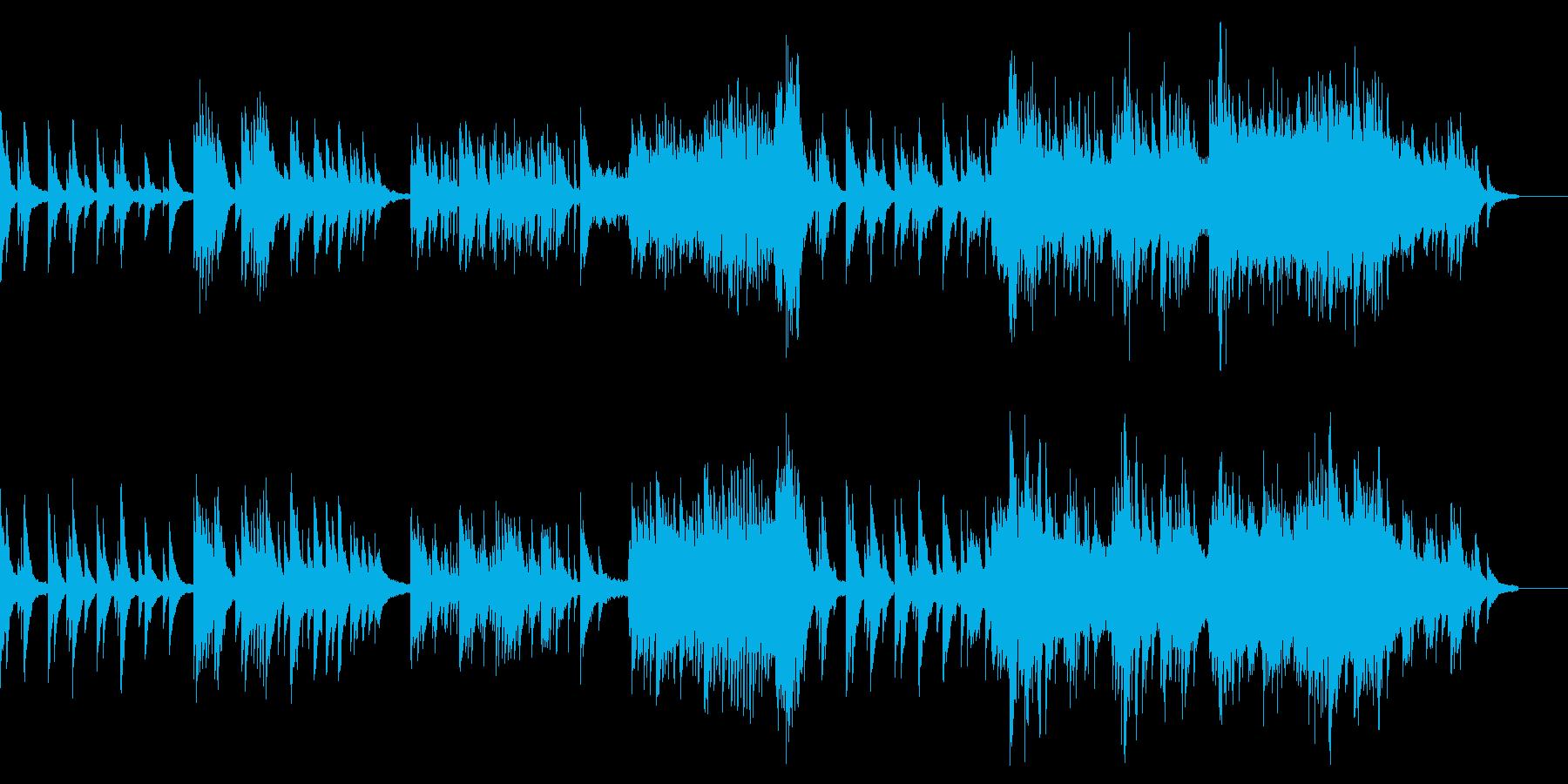 ピアノ・ストリングスが香るバラードの再生済みの波形