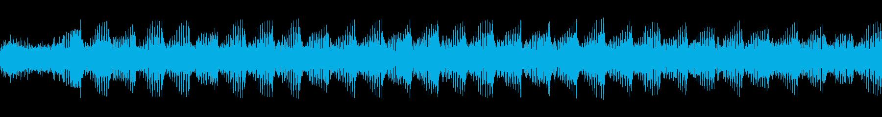 ヘビーギター3、BPM140、A、リフの再生済みの波形