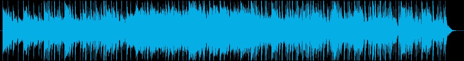 和風・アジアンテイストで穏やかな背景音楽の再生済みの波形