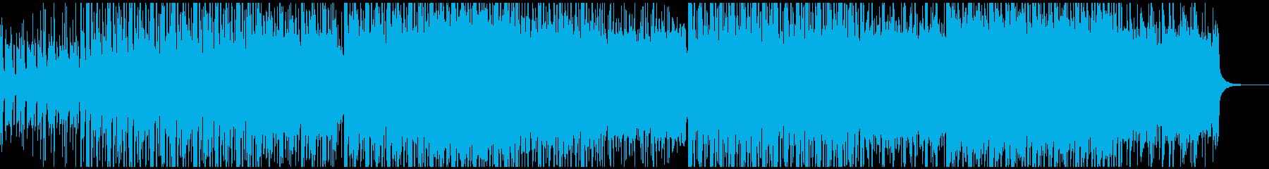 電子機器で緊張感ある曲の再生済みの波形