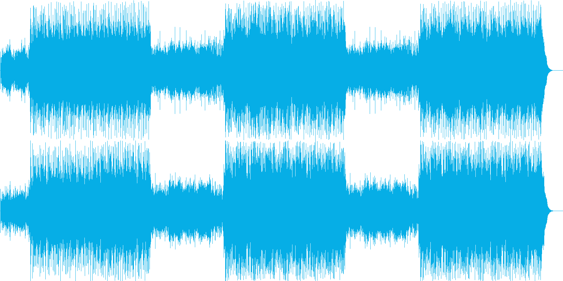 滑らかでエレガントな音楽トラックの再生済みの波形