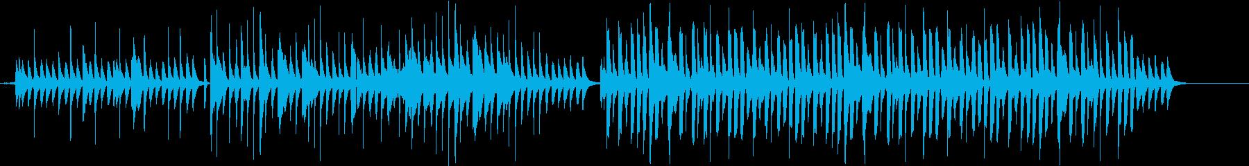 オルゴールと不思議なリズムの短い音楽の再生済みの波形