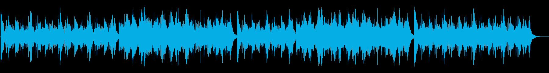アコースティック系 優しく静かなギター曲の再生済みの波形