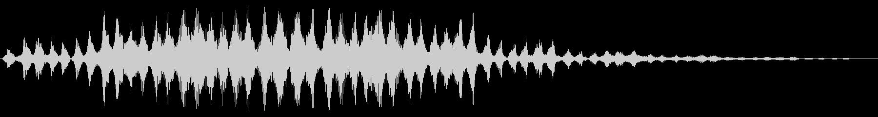 カシャカシャカシャ〜(宇宙人の会話)の未再生の波形