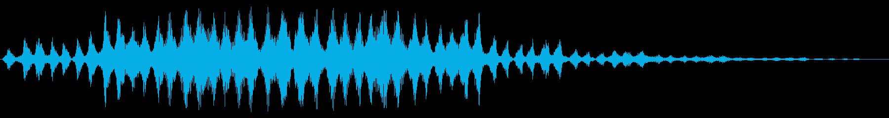 カシャカシャカシャ〜(宇宙人の会話)の再生済みの波形