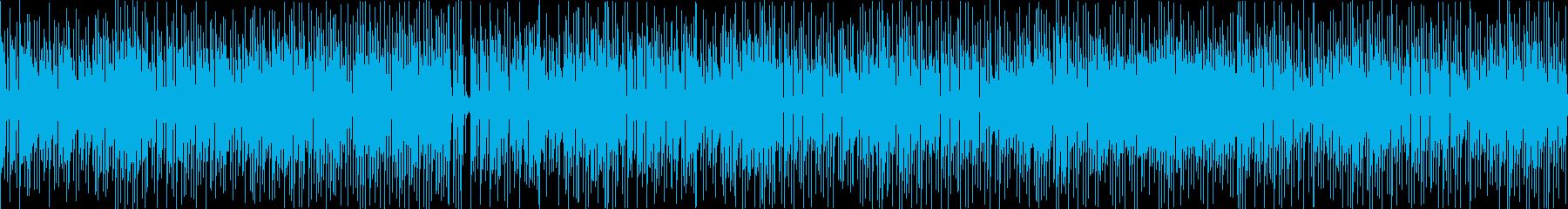 ウキウキするお洒落カワイイ曲(ループの再生済みの波形