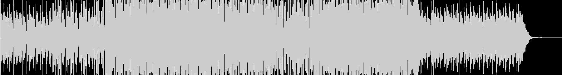 少し切ない雰囲気のハウステイストBGMの未再生の波形
