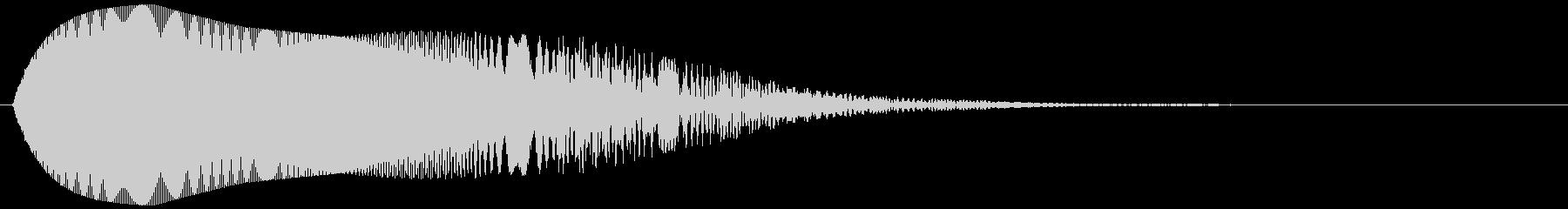 柔らかいもの (低め)ポヨヨーンの未再生の波形