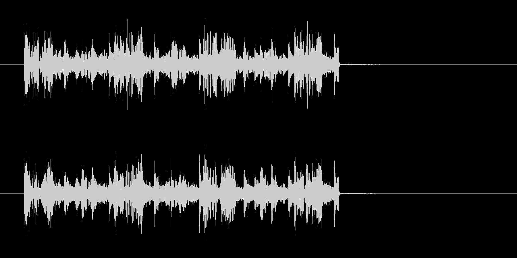 ギターの効いた短いロックの曲の未再生の波形