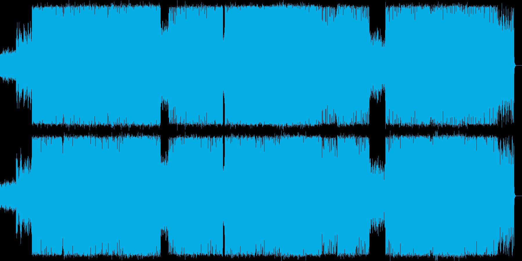 民族的なサイケデリック・トランスの再生済みの波形
