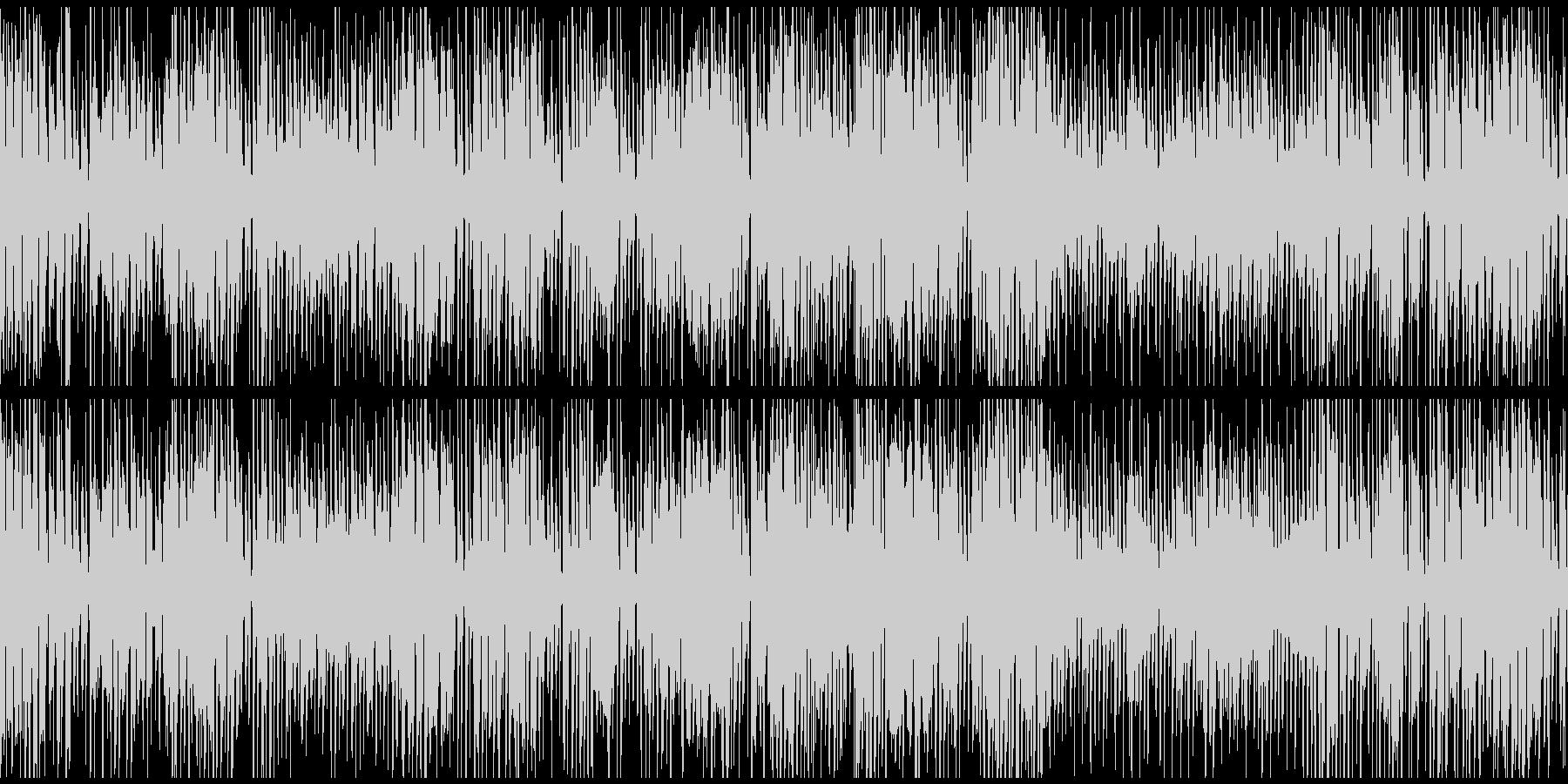 嬉しい気分の軽快ジプシージャズ※ループ版の未再生の波形